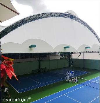 thi công mái che sân tennis extreme