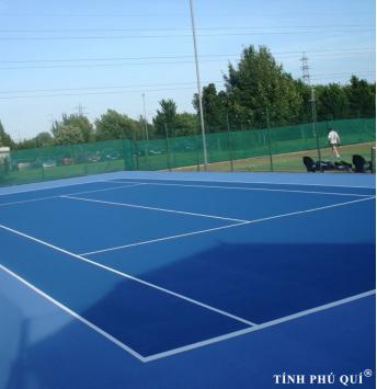 thi công sân tennis standark