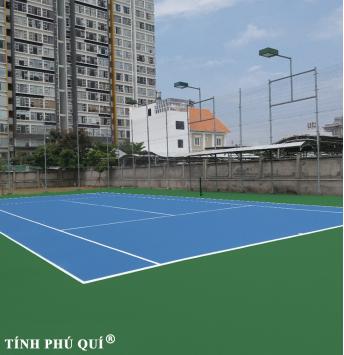 sơn sân tennis 7 lớp nền bê tông