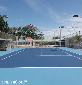 sơn sân tennis 7 lớp nền nhựa