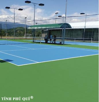 sơn sân tennis 7 lớp trên nền bê tông