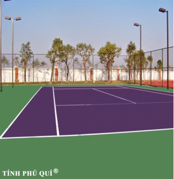 sơn sân tennis 9 lớp nề bê tông