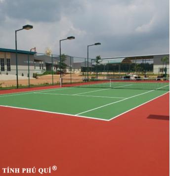 sơn sân tennis 9 lớp nền bê tông