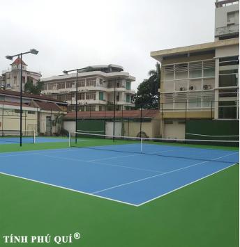 sơn sân tennis cao su