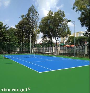 nâng cấp sân mặt sân tennis 4 lớp sơn cao su