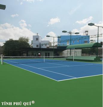 nâng cấp sân mặt sân tennis 6 lớp sơn cao su