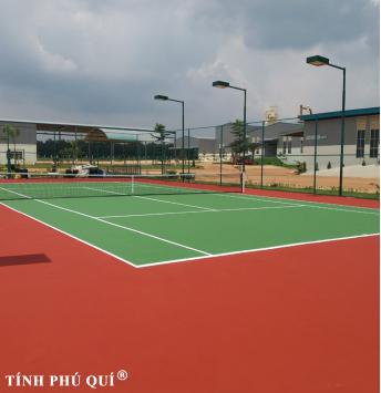 nâng cấp sân mặt sân tennis sơn decoturf
